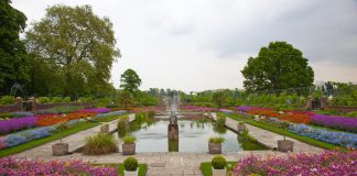 Kensington palace garden, London