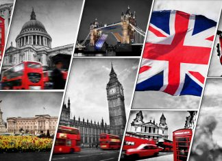 Collage of the symbols of London