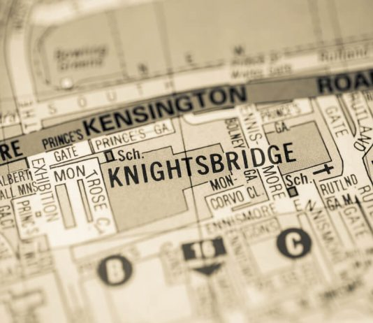 Knightsbridge. London, UK map