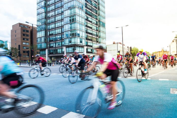 Cycling event in London