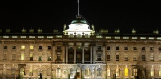 Somerset house at night, London